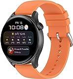Gransho Silikon Uhrenarmband kompatibel mit Honor MagicWatch2 46mm / Watch GS PRO/Magicwatch, Ersatzarmband Sportarmband Uhr Zubehör (22mm, Pattern 4)