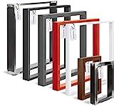 HOLZBRINK Tischkufen aus Vierkantprofilen 60x20 mm, Tischgestell 60x72 cm, Rohstahl mit Klarlack, 1 Stück, HLT-01-E-CC-0000