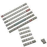 YMDK 61 64 68 DSA Profile 9009 Dye Sub ANSI ISO AZERTY QWERTZ Spanien UK Französisch Deutsch Italienisch Keyset PBT Keycap für MX Keyboard (Deutsch ISO Set)