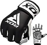 RDX MMA Handschuhe Profi Rindsleder Kampfsport Sparring Freefight Sandsack Trainingshandschuhe Grappling Gloves(MEHRWEG)