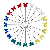 Exceart 100 Stück Quiltnadeln Dekorative Nähstifte Schmetterlingsförmige Patchworkzubehör für DIY Craft Schneiderin Schmuck Dekoration