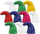 Alsino Zwergenmützen Zwergenmütze für Erwachsene Wichtelmütze Zwerg Kostüm Karneval Elfenmütze Zwergen Zipfelmützen (10er Paket) , Bunt