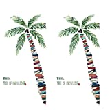 alyf wanddeko Coconut Tree Tapete Selbstklebende Literary Study Room Dekoration Inspiration Wand-Aufkleber Wohnzimmer Porch Hintergrund-Wand-Aufkleber wandaufkleber