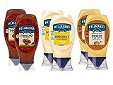 Hellmann's Original Grill BBQ Sauce Barbecue Tomaten Ketchup 2x 430ml, Honey Mustard Senf Honigsenf 2x 225ml, Dressing Mayonnaise Mayo 2x250ml (0,61 Euro/100ml)