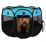 Tragbarer, faltbarer Laufstall für Hunde und Katzen, für drinnen und draußen, wasserabweisend und abnehmbarer S