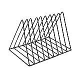 XYSQWZ Iron Tripod Desktop File Sorter Organizer Zeitungshalter Rack Storage Metal Newspaper Halter Für Magazine File (Farbe: Weiß Größe: 14 * 11 * 13cm)