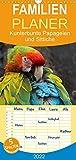Kunterbunte Papageien und Sittiche - Familienplaner hoch (Wandkalender 2022 , 21 cm x 45 cm, hoch): Papageien und Sittiche - farbenfrohe Exoten (Monatskalender, 14 Seiten ) (CALVENDO Tiere)