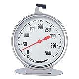 Buhui Mini-Ofenthermometer, Edelstahl, Temperaturanzeige, Thermometer 0–400 Grad Celsius für Zuhause, Küche, Lebensmittel