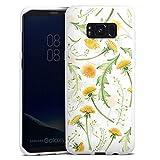 DeinDesign Silikon Hülle kompatibel mit Samsung Galaxy S8 Plus Duos Case weiß Handyhülle Blumen Blüte Muster