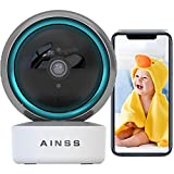 WLAN IP Kamera Arbeitet Mit Alexa Babyphone Überwachungskamera Innen 2.4Ghz WiFi Nachtsicht Haustier Kamera 1080P HD Automatische Verfolgung,2-Wege-Audio,Bewegungserkennung,iOS/Android 【Kamera】