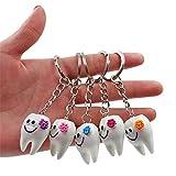 20 Stück Zahn-Schlüsselanhänger aus Kunstharz für Zahnarzt, Geschenk, Handtaschen-Geschenk, ideal für Zahnarztstudenten