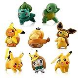 Party Kuchen Dekoratives Set, 8 Stück Pokémon Mini Figuren, Pokémon Kuchen Dekoration Supplies,Pikachu Cake Topper, Tortendeko Geburtstag für Kinder Geburtstag Mädchen Junge