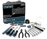 Werkzeug Set, WESCO Haushalts WerkzeugKoffer Set, Werkzeugset Klein, Werkzeugkoffer Gefüllt, 144-teiliges Reparaturwerkzeuge mit Aufbewahrungskoffer, Werkzeug Gadgets für Männer Kleine WS9967