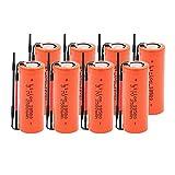 josiedf 18500 3.7 v 2500 Mah Lithium-Ionen Batterie, Ersatzbatterie Taschenlampe Ersatzbatterien 8pieces