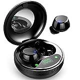 Bluetooth Kopfhörer, lecover In Ear Kopfhörer Kabellos Mini Leicht Wireless Headset Bluetooth 5.0 mit Stereo Deep Bass, CVC8.0 Noise Cancelling Sport Earbuds mit Mikrofon, IP7 Wasserdicht, Ladebox