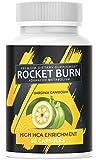 NEU: Rocket Burn + Garcinia Cambogia - EXTREM Kapsel Ergänzung für Frauen & Männer, hochdosiert + vegan, die Kapsel für den Tag – STOFFWECHSEL – POWER – ENERGIE – STARK - aus Deutschland 1x