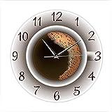 speoww Wanduhr,Kaffeezeit Wanduhr,Wandkunstuhr des Cafés,Die Uhr mit der das Café dekoriert wurde