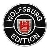 Wolfsburg Edition Logo, 7,6 cm, bestickt, zum Aufbügeln