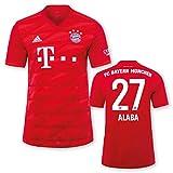 adidas FC Bayern München Heimtrikot Kinder Saison 2019/20, Größe:140, Spielername:27 Alaba