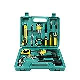 AMAZOM 16-Teiliges Hochleistungs-Werkzeugset, Allgemeines Haushaltswerkzeug-Set Mit Hammer, Zange, Schraubendreher, Schraubenschlüssel, Messer, Maßband, Hochleistungs-Aufbewahrungsbox, Für Zuhause