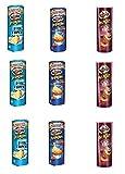 Testpaket Pringles Ketchup-Salt & Vinegar-BBQ Barbecue 9 x 160g Kartoffel chips