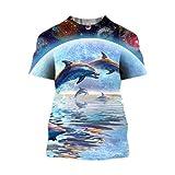 Cooles Dinosaurier-Kopf-T-Shirt für Herren und Damen Gr. XL, 9