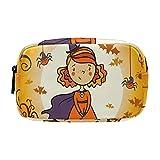 Kosmetische Reisetasche, Schminktasche, Schminktasche, Muttertagsgeschenk, Halloween Little Witch Spider