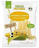 Freche Freunde Bio Knusper-Stangen Mais & Hafer, ohne Salz- und Zuckerzusatz, Bio Knabberzeug für Babys ab 12 Monaten, 180 g