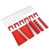 FIXKIT Werkzeugwand 25 teilige Metall-Haken Set Werkstatt Garage Schwerlast-Gerätehalter Haken für Lochwand - (Nur für Modell 1)