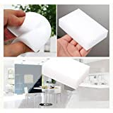 HUHUI 20 Stück Schwamm Schmutzradierer Radierschwämme Putzschwamm Reinigungs Küche Zweiseitig Reinigungsschwamm 10x6x2