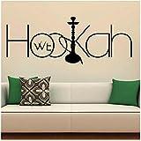 WYLYSD Shisha Wandtattoo Aufkleber Entspannen Sie Sich Arabische Wandtattoo Home Interior Decor Art Murals Für Shisha Lounge Decor 109X42Cm