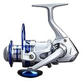 Angelrolle Sea Fishing Tragbare Multifunktions-praktische Metall 12 Kugellager-Verhältnis von 5,5: EIN Angelrute Runde Angelrolle, Angelspule,Monsteramy