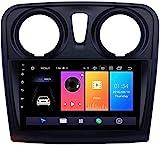 LYHY 9 Zoll Android 10 Autoradio Auto-Multimedia-Player Kompatibel Mit Renault Dacia Sandero 2012-2017 Mit FM RDS AutoRadio Unterstützt DSP ODB2 DVD/Bluetooth Freihand/Lenkrad 4G WiFi