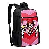 Hdadwy Travel Laptop Rucksack Die Power_puff Girls Love College School Büchertasche Computer Bag Casual Daypack für Wo_men Men