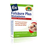 SUNLIFE Folsäure 800 Plus Minitabletten:BeiKinderwunsch, in der Schwangerschaft & Stillzeit, 90 Tabletten je 800µg Folsäure - 6er Pack