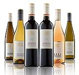 6 Flaschen Johann Geil | Probierpaket | Rotwein lieblich & trocken | Rose mild | Rießling Kabinett trocken| Scheurebe trocken | Weisser Burgunder| Qualitätswein | Reihnhessen