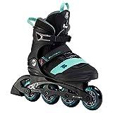 K2 Inline Skates ALEXIS 80 PRO Für Damen Mit K2 Softboot, Black - Teal, 30F0144