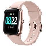 YAMAY Smartwatch Fitness Damen Herren Smart Watch Android iOS Schrittzähler Herzfrequenzmesser Sportuhr Bluetooth Touch Kalorienzähler Activity Tracker IP68 mit Stoppuhr