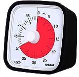 Yunbaoit Visueller Analoger Timer,60-minütiger Küchentimer,Countdown-Timer für Kinder und Erwachsene, leiser/lauter Alarm, Kein Lauter Ticken (Schwarz)