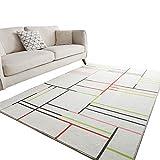 SunYe Moderne Und Einfache rutschfeste, Verschleißfeste Polyester-Teppich-Wohnzimmer-Sofa Aus Verdicktem Doppelbodenmatte Schlafzimmer Bettb