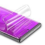 RIWNNI [3 Stück Schutzfolie für Samsung Galaxy Note 10 Plus, Ultra Dünn Weiche TPU Displayschutzfolie (Nicht Panzerglas) HD Klar Displayschutz Folie Full Screen für Samsung Note 10 Plus - Transp