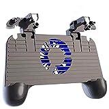 QCHEA Simple Mobile Game Controller, Handy-Spiel löst empfindliche Zieltasten aus , Game Trigger Joystick Gamepad Grip for 4,7-6,5 Zoll Smartphone mit Lüfter