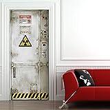 Türtapete selbstklebend TürPoster - GEFAHRENZONE - Fototapete Türfolie Poster Tapete