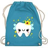 Shirtracer Karneval & Fasching Kinder - Süßes Zahnfee Kostüm - Unisize - Hellblau - kinder kostüme zahnfeen - WM110 - Turnbeutel und Stoffbeutel aus Baumwolle