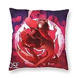 zhifan RWBY Ruby Rose Set Kissenbezug Quadratische Kissenbezüge für Couch Schlafzimmer 18 'x18