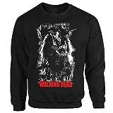 TWD Zombie Horror TV Serie Film Thriller Walking Dead Braindead schwarz Sweatshirt S