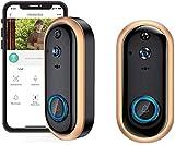 ZouYongKang Video-Türklingelkamera, 1080p Wifi-WLAN-WLAN-Sicherheitstürklingel mit Klingeln, intelligent wasserdichte Türkamera, mit Kamera IR-Eingangstür-Alarm-Wireless-Sicherheitstür-Anruf-Video-Aug