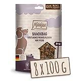 MjAMjAM - Premium Hundesnack - Snackbag köstliches Muskelfleisch vom Pferd, getreidefrei, Monoprotein, 8 x 100g