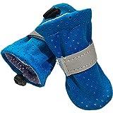 Sommer-Hundeschuhe, wasserdicht, für kleine Hunde, Stiefel, rutschfest, reflektierend, weiche Socken für York-Teddy, Farbe: Blau, Größe + 2