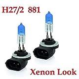 2xStück H27W/2-27W - 881 - PGJ13-12V Xenon Optik Lights - Halogen Auto Lampen für Abblendlicht Fernlicht Zusatzscheinwerfer und Nebelscheinwerfer. / chiavi